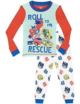 Transformers - Pijama para Niños - Rescue Bots - Ajuste Ceñido