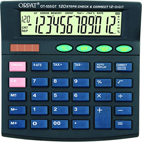 Orpat OT-555T/555GT Check and Correct Calculator