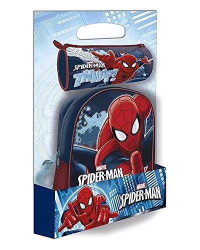 SPIDERMAN Set de mochila y portatodo cilindrico