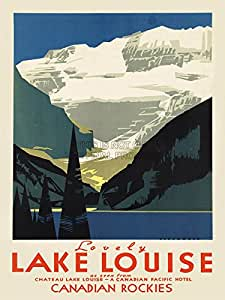 TRAVEL TOURISM LOVELY LAKE LOUISE CANADA ART POSTER PRINT 18x24 INCH LV4215
