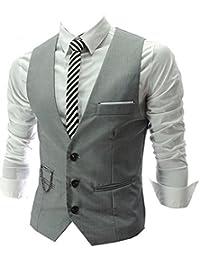 Izacu Mens diseñado para Casual chaleco patrones de costura para chalecos de pelo fino de funda fina chaleco vestidos