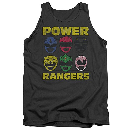 Power Rangers - - Ranger les hommes chefs Débardeur, XX-Large, Charcoal