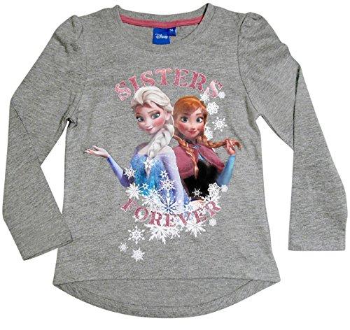 Ökotex Standard 100 Die Eiskönigin 2017 Kollektion 98 104 110 116 122 128 Mädchen Lang Elsa Fliederblau (Grau, 122 - 128; Prime) (Frozen T-shirts)