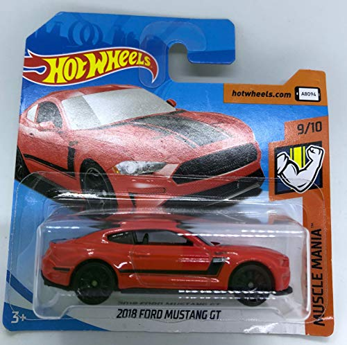 Hot Wheels 2018 2018 Ford Mustang GT Red 9/10 Muscle Mania 337/365 (Short Card) (Hot Wheels Mustang)