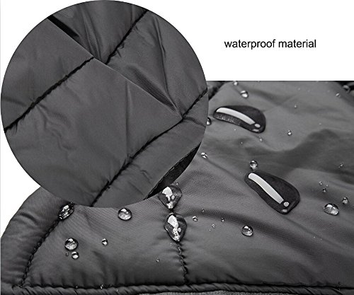 SymbolLife Dog Coat 100% Waterproof Nylon- Fleece Lined Jacket Reflective Dog Jacket Warm Dog Coat Climate Changer Fleece Jacket Easy On and Off 6