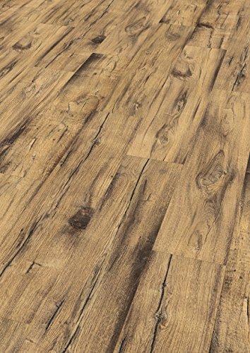 EGGER Home Comfort-warm und leise-Korkboden braun in Holzoptik EHC003 Daytona Eiche natur (8mm Stärke, 8 Dielen=2,532m² im Paket) Kork Laminat mit Trittschalldämmung