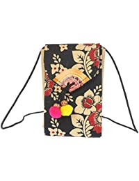 Katha Stich Handmade Mobile Pouch Bag - B07BQLRTFX