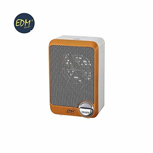 Edm Grupo Mini Calefactor 600W, Naranja Negro, 0
