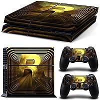 [PS4] Tutta la pelle del corpo COPERTURA DECALCOMANIA per PS4 Playstation 4 console di sistema e Controller - Oro / Nero