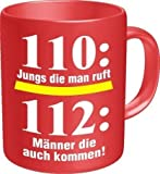 Feuerwehr Tasse 112 - DFV - Tasse - Kaffee - Pott -