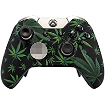 eXtremeRate® Funda Cubierta Shell superior Carcasa frontal Antideslizante para mando Xbox One Elite(Hoja Verde)