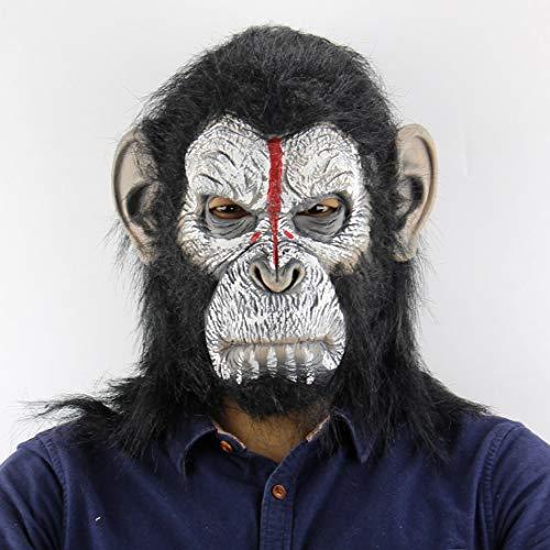 Kostüm Lustige Gorilla - MONWSE Gorilla AFFE Halloween Masken Erwachsene Volle Gesicht Lustige Maske Latex Halloween Party Cosplay Kostüm Maskerade Realistische Masken