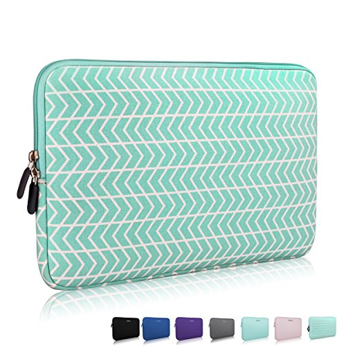 11-12 Inch Thickest Lightest Laptop Sleeve, Zikee Water Resistant Neoprene Protective Laptop Case for Lenovo/HP/Dell/Acer/Asus/MSI/Medion (Chevron)