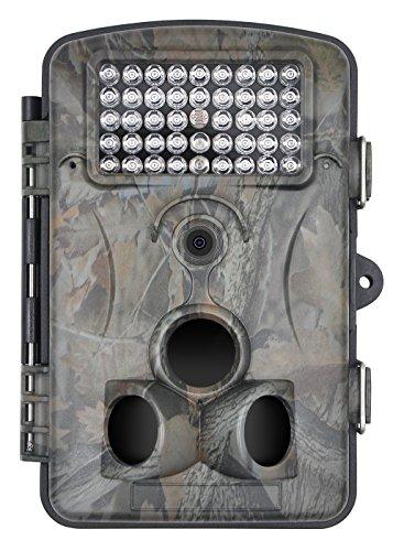 xikezan 12 MP 1080P Wildkamera No-Glow Infrarot Fotofalle 75ft Detect Range HD Wasserdicht Besguarder Infrarot-Nachtsicht überwachungskamera mit bewegungsmelder 1 Jahr Garanti (Bewegungs-sensor-trail Cam)