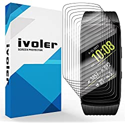 [Nuevo Version] iVoler Samsung Gear Fit 2 Pro Protector de Pantalla, [8 Unidades] 3D Curvo Cobertura Completa [líquida Instalar] [Arañazos Resistente] [No Burbujas] HD Transparente TPU Suave láminas Protectora para Samsung Gear Fit 2 Pro