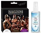 Massage 3 er Set Massageöl Sexöl Erotiköl Öl Körperöl (3x50ml) mit Duft und ein Gleitgel Gleitmittel (100 ml) von Feuchtalarm für Vorspiel Intim-Bereich Vagina Penis Body Sex Erotik Tantra Stimulation