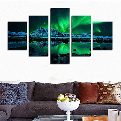 hcozy-5-stck-hd-gedruckte-aurora-borealis-malerei-auf-leinwanddruckdekoration-raum-leinwanddrucke-bi