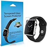 Apple Watch Screen Protector, JETech 2-Pack 42mm Premium Tempered Glass Screen Protector for Apple Watch (42mm)