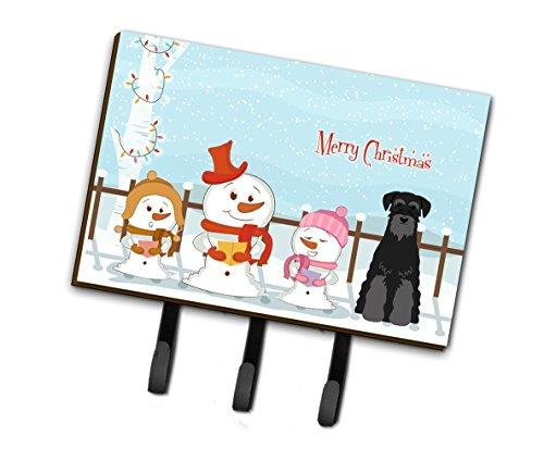 Caroline's Treasures bb2363th68Merry Christmas Carolers Standard Schnauzer schwarz Leine oder Schlüsselhalter, Triple, multicolor -