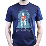 This is my Spot Game of Spots and Thrones Big Bang Sheldon T-shirt, Größe:L;Farbe:Dunkelgrau