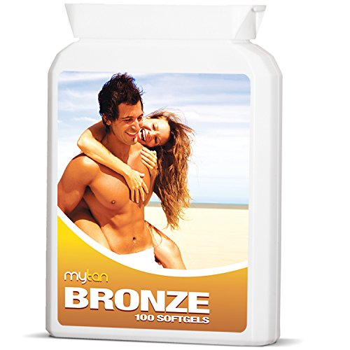 MyTan Bronze Tanning Pills | 100 Softgels | Beta Carotene Tanning Tablets With Natural Mixed Carotenoids | Use With or Without Sun for a Healthy, Safe Tan | No Canthaxanthin