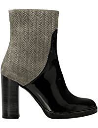 Castañer Camille / Box Leather Woven Suede - Botas para mujer