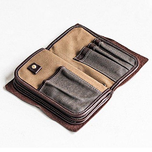 Multifunktionale Leder Handtasche mann Tasche wallet Geldbeutel Handy Tasche, Kaffee Coffee
