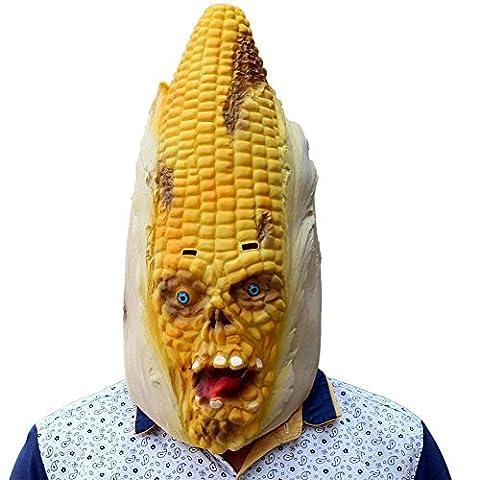 SQCOOL Halloween Masken Weihnachtskugeln Mais Styling Masken Party Spiele Lustige Scared High Quality Latex (Schwarze Katzen-kostüm Diy)