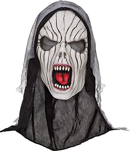 Kostüm Banshee - Erwachsene Halloween Kostüm Horror Party Accessoire Unheimlich Party Gesichtsmaske - Kreischender Banshee, One size