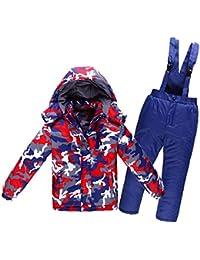 Keamallltd Chaqueta de Nieve para niños Traje de esquí Conjuntos de niña  niño para Esquiar 61b5b3a677a