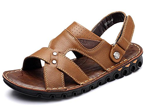 shixr-men-open-back-slippers-outdoor-beach-shoes-leather-first-layer-of-leather-sandals-khaki-46