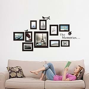 Mercurymall wandtattoo fotorahmen bilderrahmen verschiedene rahmen deko f r wohnzimmer amazon - Amazon bilder wohnzimmer ...