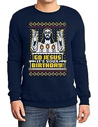 Hässlicher Weihnachtspullover Herren - Go Jesus It's Your Birthday Sweatshirt
