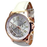 Xjp Women's Watches Roman Numerals Analog Quartz Wrist Watch Faux Leather Strap
