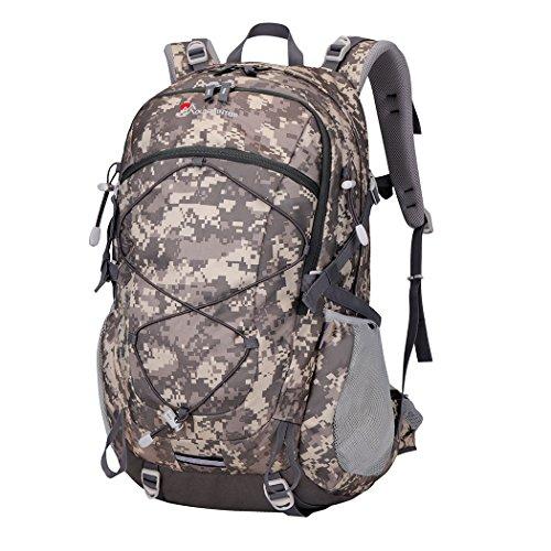 Mountaintop 40l Wanderrucksack, 55 x 35 x 25 cm Camouflage Grau