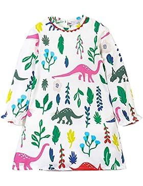 Amlaiworld frühling Sommer bunt Pferd drucken Kleid Mädchen gestreift Langarm Kleider Baby niedlich Mode süße...