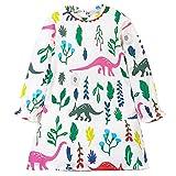 Amlaiworld frühling Sommer bunt Pferd drucken Kleid Mädchen gestreift Langarm Kleider Baby niedlich Mode süße Kleidung, 0-6 Jahren (4 Jahren, C - A)