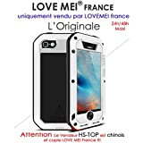Carcasa iphone 5/5S/Se Lovemei France- golpes y hermética – Color blanco