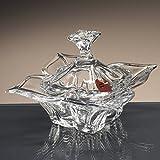 la galaica Bombonera de Cristal, Dulces, de Bohemia, colección FLORALE, 12 cm. de Altura.