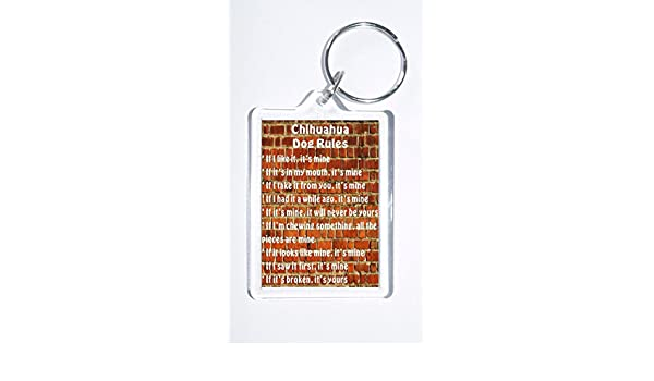 /'It/'s Mine!/' Novelty Dog Owners Keyring Chihuahua Rules Ideal Present