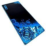 ENHANCE GX-MP2 Extended Gaming Mauspad - XXL Mauspad (80 x 35 cm) Mehrfarbig (Blau/Schwarz)