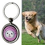 Pet Hund Anti Lost rund Anhänger Schlüsselanhänger ID Tag QR-Code Tracker Wireless Locator