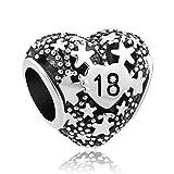 LovelyJewellery 18th compleanno regalo ciondoli cuore stella NUOVA vendita Charm per braccialetti Pandora