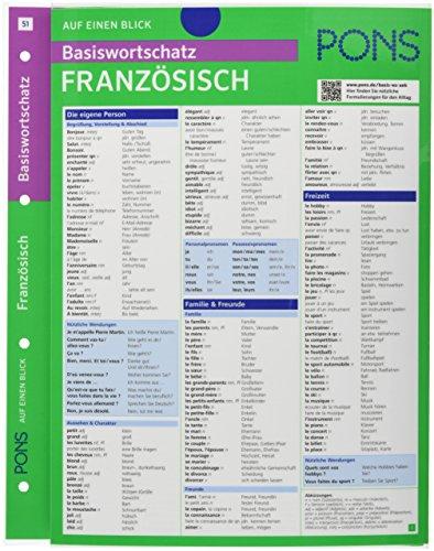 PONS Basiswortschatz auf einen Blick Französisch: Kompakte Übersicht, ca. 1.000 Wörter nach Themen sortiert (PONS Auf einen Blick, Band 51)
