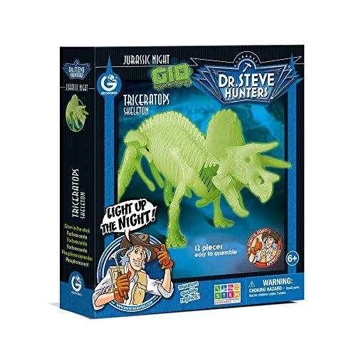 Dr. Steve Hunters cl1653K–Spiel Jurassic Night Glow in the Dark Triceratops (Hunter Nite)