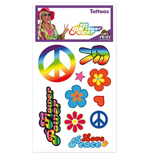 Hippie Tattoos Flower Power Hippie-Tattoos Love and Peace Accessoires