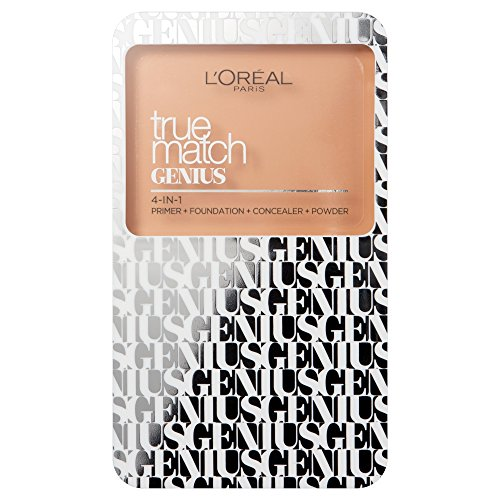 L'Oreal True Match Genius 4 in 1 Primer, Foundation, Concealer & Powder Compact-5N Sand -