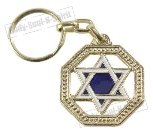 Body-soul-n-spirit - décoration murale Étoile de David Porte Chance Israël Amulette Judaïca Porte-clés Cadeau spécial