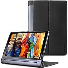 Lenovo Yoga Tab 3 Pro/ Plus 10 Funda-Infiland Ultra Delgada Tri-Fold Case Cover PU Cuero Cascara con Soporte para  Lenovo Yoga Tab 3 10 Pro / Yoga Tab 3 Plus 10.1 pulgadas Tablet (Negro)