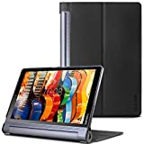 Infiland Lenovo Yoga Tab 3 Pro/ Plus 10 Case -Premium Shell PU Leather Stand Case Cover for Lenovo Yoga Tab 3 10 Pro / Yoga Tab 3 Plus 10.1 inch Tablet,Black